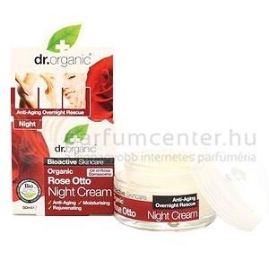 Dr. Organic Rose Otto Ránctalanító éjszakai krém 50 ml