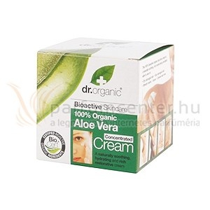 Dr. Organic Aloe Vera Arc- és testápoló 50 ml