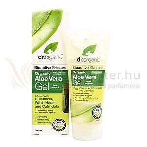 Dr. Organic Aloe Vera Bőrápoló gél varázsmogyoróval 200 ml