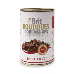 Brit Boutiques Gourmandes Beef True Meat Bits 12 x 400 g
