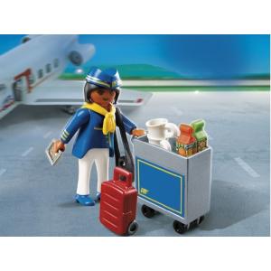 Playmobil Légiutaskísérő, catering kocsival – 4761