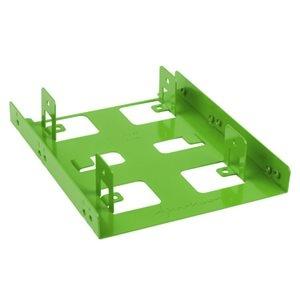 """Sharkoon Beépítő Keret - 3.5"""" BayExtension Green (2x 2.5"""" HDD/SSD számára; 3,5"""" helyre)"""