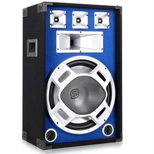 Skytec PA-Box 38cm (15)-Subwoofer blau LED-Lichteffekt 800W