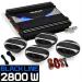 """Electronic-Star 4.1 HiFi szett autóba """"Black Line 400"""", erosíto, hangfalak"""