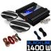 """Electronic-Star Autó HiFi szett """"Black Line 220"""", subwoofer, erosíto, 1400 W"""