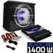 Electronic-Star Autó HiFi szett Black Line 100, subwoofer, erosíto, 1400 W