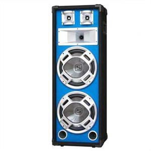 Skytec PA hangfal, 2 x 20 cm, kék LED effekt, 600 W