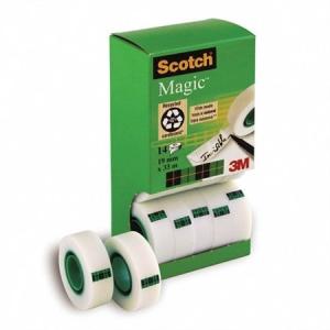 Ragasztószalag 3M SCOTCH Magic tape 19 mm x 33 m, 14 db/doboz
