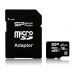 Silicon Power microSDHC Elite UHS-1 16GB + adapter
