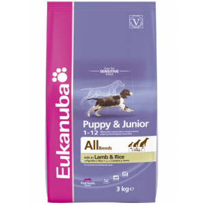 Eukanuba Puppy& Junior rich in Lamb &Rice 2,5kg