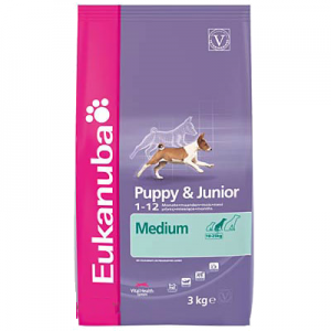 Eukanuba Puppy & Junior Medium Breed 15kg