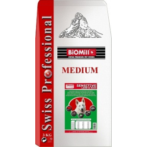 Biomill Swiss Professional Medium Sensitive lamb & rice 3kg