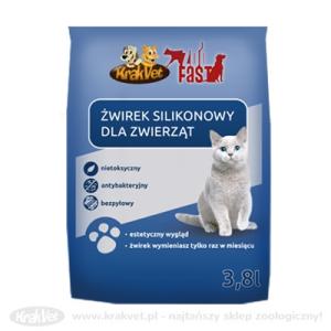 Krakvet ZOOFAST/KRAKVET szilikonos alom 8x3,8l