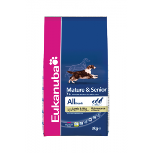 Eukanuba Mature & Senior 7+ All Breeds Lamb & Rice Maintenance 2x12kg