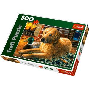 Trefl 500 db-os puzzle - A kandalló előtt (37165)