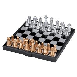 Összehajtható mágneses sakk, műanyag, 13x13,5x1,1cm