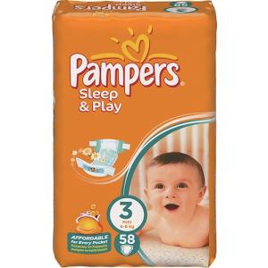 Pampers Pampers Sleep & Play 3-as méret Midi 4-9 kg Pelenka (58 db)