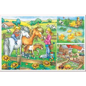 Ravensburger Farm állatok Puzzle 3x49db