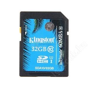 Kingston KINGSTON Memóriakártya SDHC 32GB CLASS 10, UHS-I Ultimate 233x