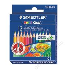 STAEDTLER Színes ceruza készlet, hatszögletű, félhosszú, STAEDTLER Noris Club, 12 különböző szín (TS14401NC12) színes ceruza