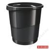 ESSELTE Papírkosár, 14 liter, ESSELTE Europost, Vivida fekete (E623952)