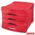 ESSELTE Irattároló, műanyag, 4 fiókos, ESSELTE Europost, Vivida piros (E623960)