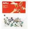 APLI Öntapadó mozgó szem, ovális, APLI Creative, vegyes színek (LCA13265)
