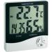 Digitális hőmérő- és légnedvesség mérő, órával
