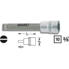 Hazet Egyenes pengéjű csavarhúzó betét 1,2x8mm kulcsnyílás: 10 mm (3/8)Meghajtás (szerszám) 10 mm (3/8)Hazet 8803