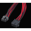 Bitfénix Bitfenix 8-Pin EPS12V hosszabbító 45cm - fekete / piros / fekete