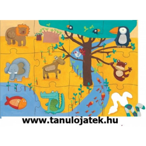 DJECO Djeco Simogatós dzsungel 70x50 cm-es Óriás puzzle/kirakó