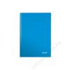 Leitz Beíró, A5, kockás, 80 lap, keményfedeles, lakkfényű, LEITZ Wow, kék (E46281036)