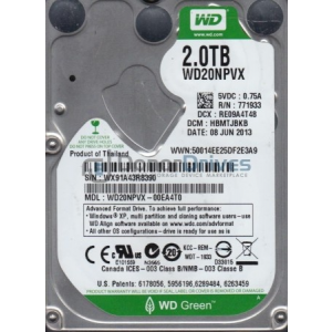 Western Digital 2TB 5400RPM 8MB SATA3 WD20NPVX