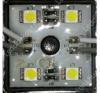Life Light Led Led modul 5050 chip, 4 led, 13-56 Lumen, 12V, meleg fehér, IP65 vízálló,  Life Light Led villanyszerelés