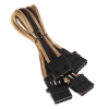 Bitfénix Bitfenix Molex 3x Molex Adapter 55cm - arany / fekete
