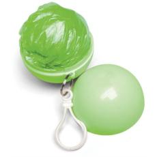 Esőkabát, gömb tokkal, zöld