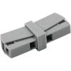 WAGO Lámpa vezetékösszekötő 2 vezetékes, 0,5 - 2,5 mm² 16A, szürke, 1 db, WAGO 224-201