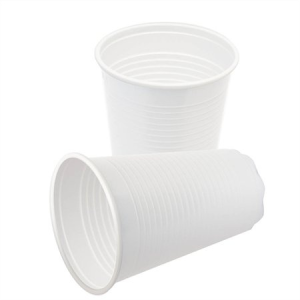 Műanyag pohár, 2 dl, fehér