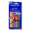 STAEDTLER Színes ceruza készlet, háromszögletű, vastag, STAEDTLER Noris Club, 10 különböző szín (TS128NC10)