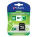 Verbatim Memóriakártya, Micro SDHC, 8GB, Class 10, adapterrel, tabletekhez, VERBATIM, zöld