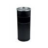. Kültéri  szemetes,  hamutartóval kombinált,  25x58 cm, fekete