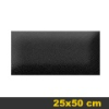 Bőr falpanel, bőrpanel, BOSS-7 Fekete (25x50 cm)