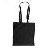 Bevásárlótáska, vászon, 38x42 cm, fekete