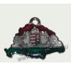 Nagy-Magyarországos nemzeti színű angyalos bőr szíjas nyaklánc (39x24 mm) nyaklánc