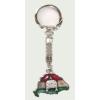 Nagy-Magyarországos (piros-fehér-zöld) koronás kulcstartó