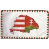 Farkasfogas osztott Nagy-Magyarországos zászló 15x25 cm, 40 cm-es műanyag rúddal