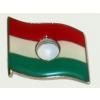 Óriás lyukas zászló (25x22 mm) ezüst színű