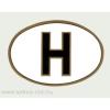 Öntapadó papír matrica, ovális H betűs külső 12x8 cm