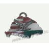 Nagy-Magyarországos osztott ezüst turulos bőrszíjas nyaklánc (39x24 mm) nyaklánc