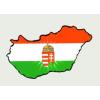 Címeres Magyarország hütőmágnes 8x5 cm
